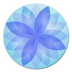 Abstract Lotus Flower 1 Magnet 5  (round) by MedusArt