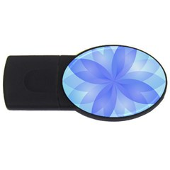 Abstract Lotus Flower 1 Usb Flash Drive Oval (2 Gb)  by MedusArt