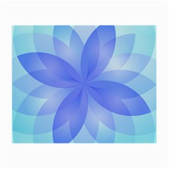 Abstract Lotus Flower 1 Small Glasses Cloth by MedusArt