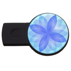 Abstract Lotus Flower 1 Usb Flash Drive Round (4 Gb)  by MedusArt