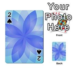 Abstract Lotus Flower 1 Playing Cards 54 Designs