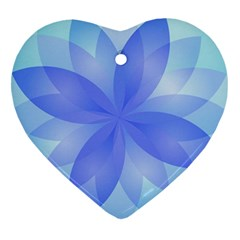Abstract Lotus Flower 1 Heart Ornament (2 Sides) by MedusArt