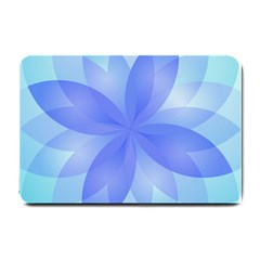 Abstract Lotus Flower 1 Small Doormat  by MedusArt