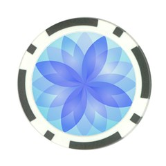 Abstract Lotus Flower 1 Poker Chip Card Guards by MedusArt
