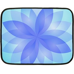 Abstract Lotus Flower 1 Fleece Blanket (mini) by MedusArt