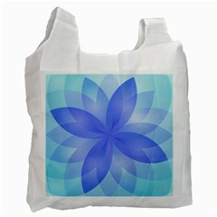Abstract Lotus Flower 1 Recycle Bag (two Side)  by MedusArt