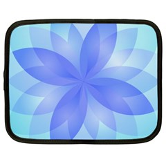 Abstract Lotus Flower 1 Netbook Case (xxl)  by MedusArt