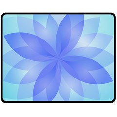 Abstract Lotus Flower 1 Fleece Blanket (medium)  by MedusArt