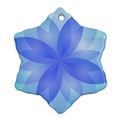 Abstract Lotus Flower 1 Ornament (snowflake)  by MedusArt