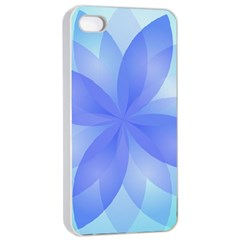 Abstract Lotus Flower 1 Apple Iphone 4/4s Seamless Case (white) by MedusArt