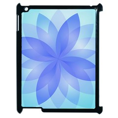 Abstract Lotus Flower 1 Apple Ipad 2 Case (black) by MedusArt