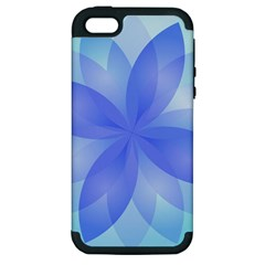 Abstract Lotus Flower 1 Apple Iphone 5 Hardshell Case (pc+silicone) by MedusArt