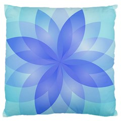 Abstract Lotus Flower 1 Large Flano Cushion Cases (one Side)  by MedusArt