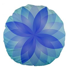 Abstract Lotus Flower 1 Large 18  Premium Flano Round Cushions by MedusArt