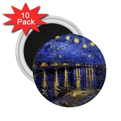 Vincent Van Gogh Starry Night Over The Rhone 2 25  Magnets (10 Pack)  by MasterpiecesOfArt