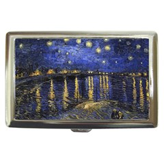 Vincent Van Gogh Starry Night Over The Rhone Cigarette Money Cases by MasterpiecesOfArt