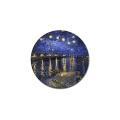 Vincent Van Gogh Starry Night Over The Rhone Golf Ball Marker by MasterpiecesOfArt