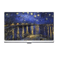 Vincent Van Gogh Starry Night Over The Rhone Business Card Holders by MasterpiecesOfArt