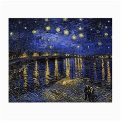 Vincent Van Gogh Starry Night Over The Rhone Small Glasses Cloth (2 Side) by MasterpiecesOfArt