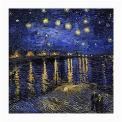 Vincent Van Gogh Starry Night Over The Rhone Medium Glasses Cloth (2 Side) by MasterpiecesOfArt