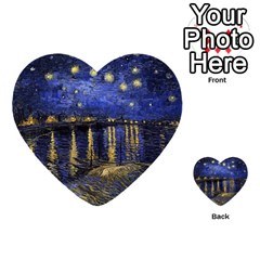 Vincent Van Gogh Starry Night Over The Rhone Multi Purpose Cards (heart)  by MasterpiecesOfArt