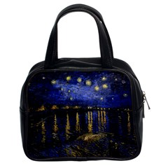 Vincent Van Gogh Starry Night Over The Rhone Classic Handbags (2 Sides) by MasterpiecesOfArt