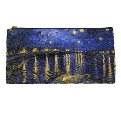 Vincent Van Gogh Starry Night Over The Rhone Pencil Cases by MasterpiecesOfArt