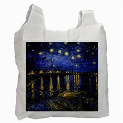 Vincent Van Gogh Starry Night Over The Rhone Recycle Bag (two Side)  by MasterpiecesOfArt