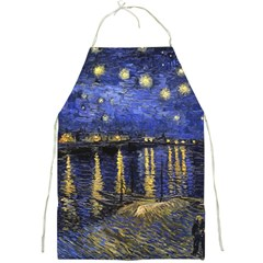 Vincent Van Gogh Starry Night Over The Rhone Full Print Aprons by MasterpiecesOfArt