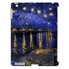 Vincent Van Gogh Starry Night Over The Rhone Apple Ipad 3/4 Hardshell Case (compatible With Smart Cover) by MasterpiecesOfArt