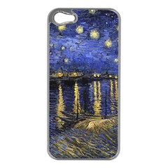 Vincent Van Gogh Starry Night Over The Rhone Apple Iphone 5 Case (silver) by MasterpiecesOfArt