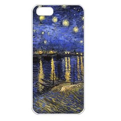 Vincent Van Gogh Starry Night Over The Rhone Apple Iphone 5 Seamless Case (white) by MasterpiecesOfArt