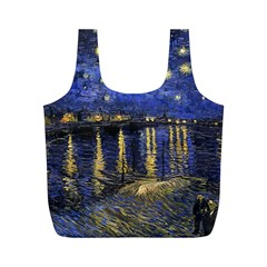 Vincent Van Gogh Starry Night Over The Rhone Full Print Recycle Bags (m)
