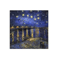 Vincent Van Gogh Starry Night Over The Rhone Satin Bandana Scarf by MasterpiecesOfArt