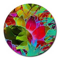 Floral Abstract 1 Round Mousepads by MedusArt