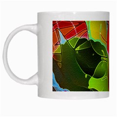 Floral Abstract 1 White Mugs by MedusArt
