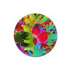 Floral Abstract 1 Magnet 3  (round) by MedusArt