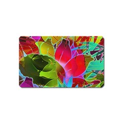 Floral Abstract 1 Magnet (name Card) by MedusArt
