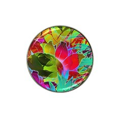 Floral Abstract 1 Hat Clip Ball Marker (10 Pack) by MedusArt