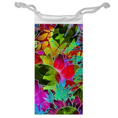 Floral Abstract 1 Jewelry Bags by MedusArt