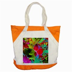 Floral Abstract 1 Accent Tote Bag  by MedusArt