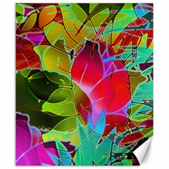 Floral Abstract 1 Canvas 20  X 24   by MedusArt