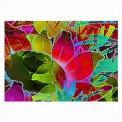 Floral Abstract 1 Large Glasses Cloth (2 Side) by MedusArt