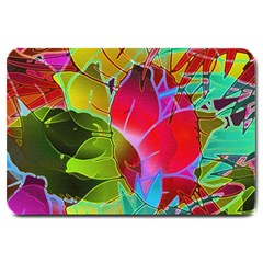 Floral Abstract 1 Large Doormat  by MedusArt