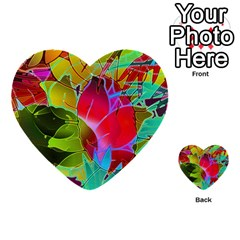 Floral Abstract 1 Multi Purpose Cards (heart)  by MedusArt