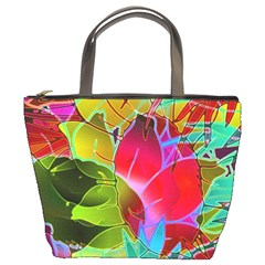 Floral Abstract 1 Bucket Bags by MedusArt
