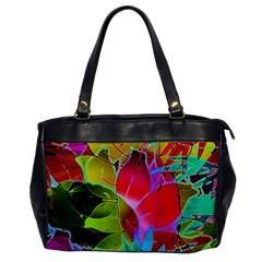 Floral Abstract 1 Office Handbags by MedusArt