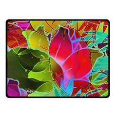 Floral Abstract 1 Fleece Blanket (small) by MedusArt