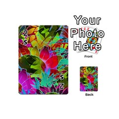 Floral Abstract 1 Playing Cards 54 (mini)  by MedusArt
