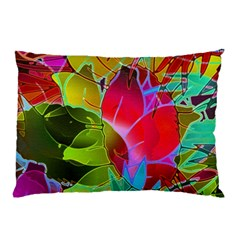 Floral Abstract 1 Pillow Cases (two Sides) by MedusArt